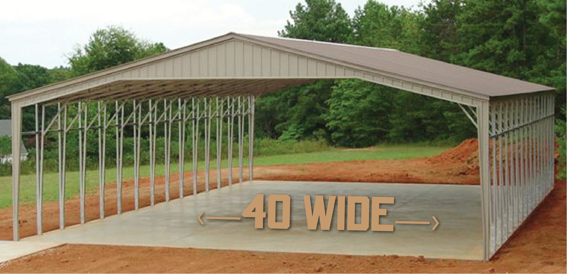 40 Foot Wide Carports