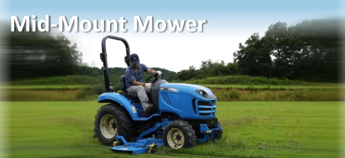LS Tractor Mid-Mount Mower Attachment
